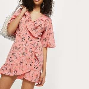 NWT TOPSHOP Off Duty Ruffle Tea Party Dress Size 4